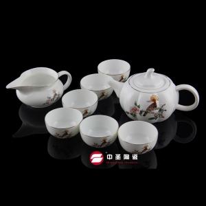 8头骨瓷花鸟茶具ZS00130