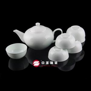 7头骨瓷青瓷茶具ZS00130