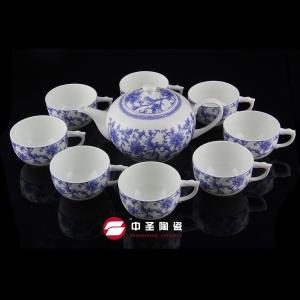 9头骨瓷釉中彩如意茶具ZS00150