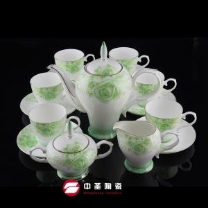 15头骨瓷春天茶具ZS00195