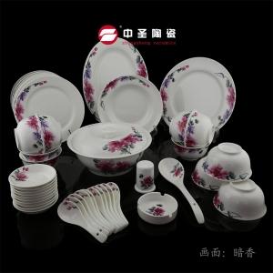 46头双层碗骨瓷餐具——让热汤热饭不再烫手