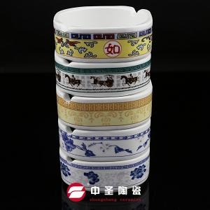 镁质强化瓷四方两孔烟灰缸