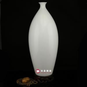 柳叶瓶——中圣青玉骨瓷瓶